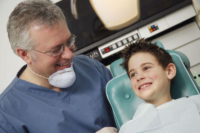 A happy child about to undergo preventative dentistry in Mason, OH