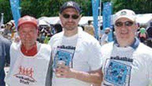 Volunteers wearing 2007 Chubu Walkathon T-Shirts