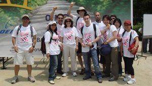 Volunteers wearing 2008 Chubu Walkathon T-Shirts