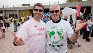 Volunteers wearing 2012 Chubu Walkathon T-Shirts