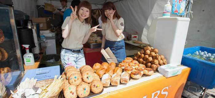 Selling Baked Goods at the Chubu Walkathon