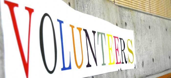 Volunteer sign at the Chubu Walkathon