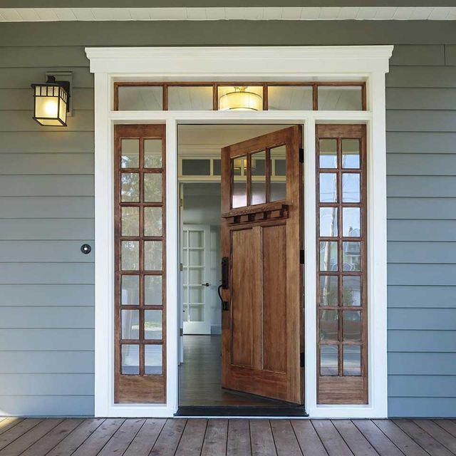 porta d'ingresso blindata in legno-PVC