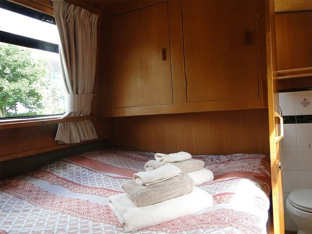 bed on the boat