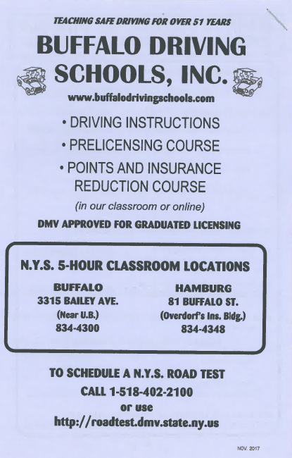 5 Hour Driving Course Buffalo Driving School