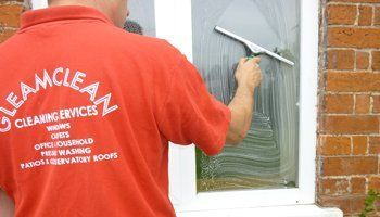 window cleaning using brush