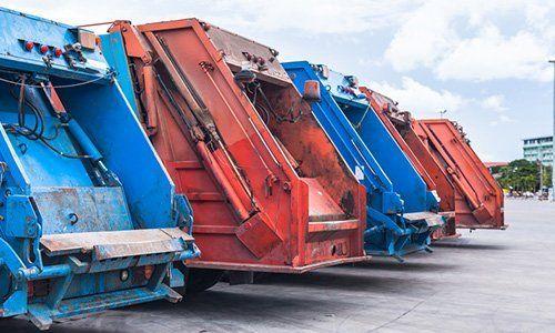 camion per lo smaltimento dei rifiuti