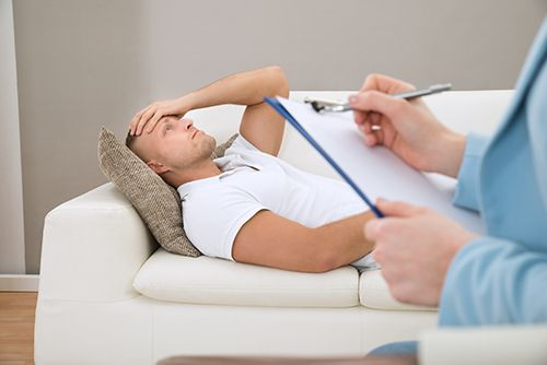Patient being treated by our mental health counselor in Lincoln, NE