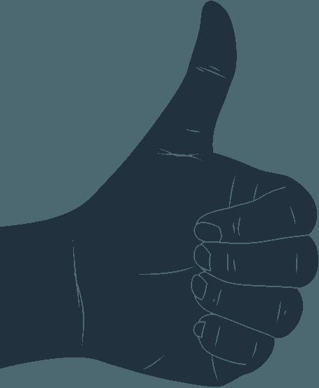 Cartoon hand doing a thumbs up