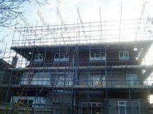 Buildings scaffolding