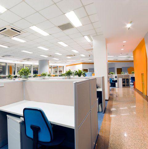 sparkling office flooring