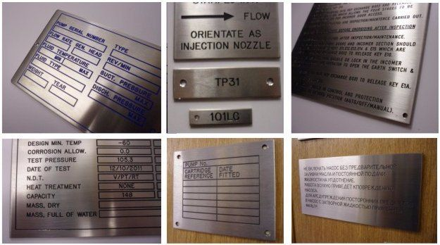 Nameplate engraving options