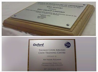 High-quality engraved plaques