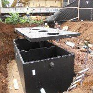 Septic service tank install