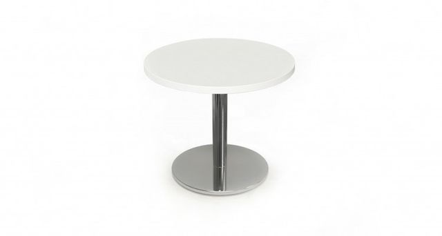 circular solair coffee table in white
