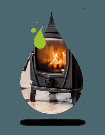 Smoke-free wood stove