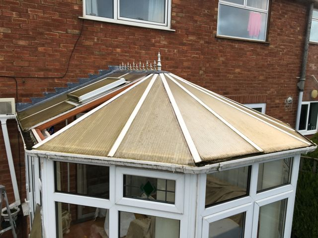 old conservatory roof panels