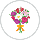 icon of flower bouquet