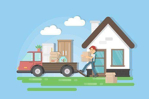 Disegno raffigurante servizi di trasloco