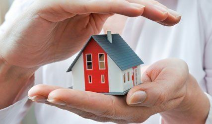 individual holding miniature home