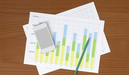 smart phone and graph sheets