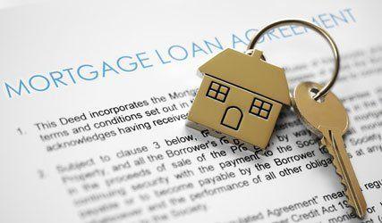 Keys on mortgage agreement