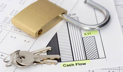 lock and keys on loan papers