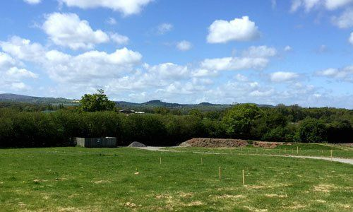 New build building plots for sale with stunning views in the Shropshire countryside