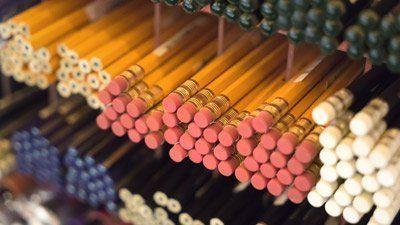 primo piano di matite