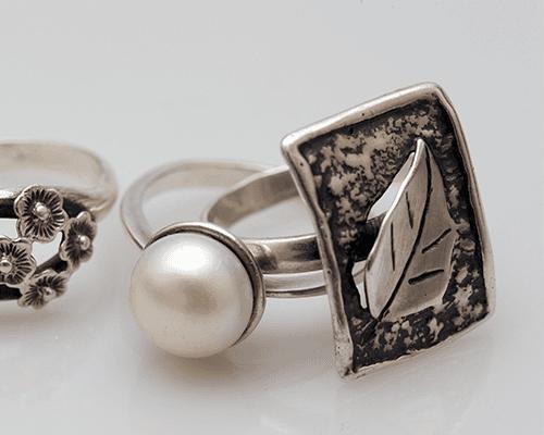 degli anelli in argento