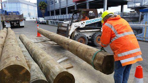 Excavator work in process