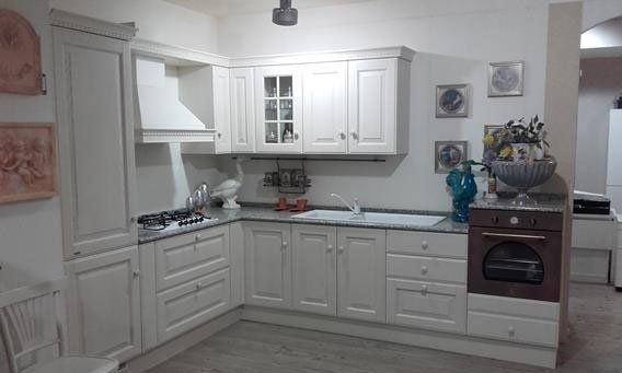cucina moderna ad angolo bianca