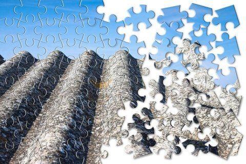 Puzzle copertura in amianto