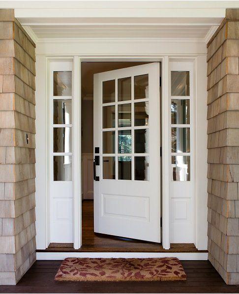 porta d'ingresso bianca