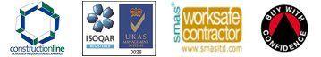 constructionline UKAS logos
