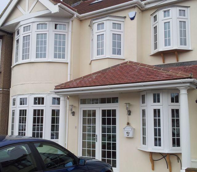 white domestic windows