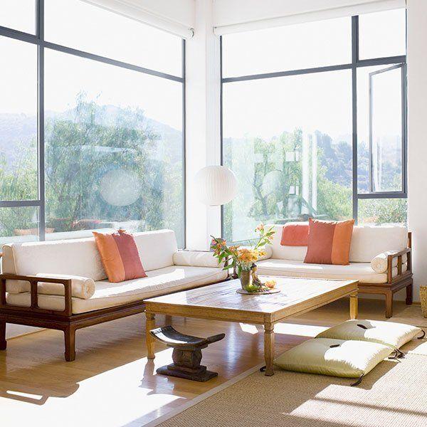 View of window glazing