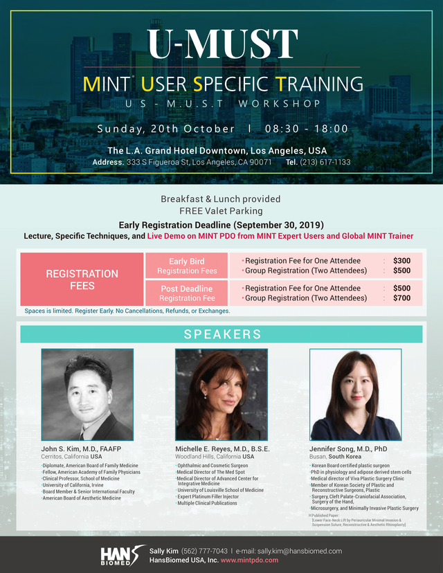 4th U-MUST USA MINT User Specific Training October 20, 2019