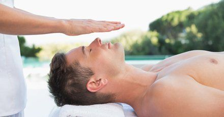 reiki therapy for a man
