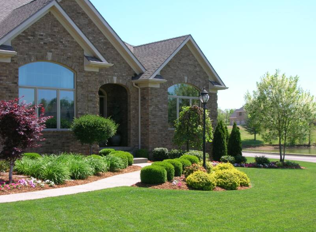 Landscaping services rendered on a home in Lexington, KY - Landscaping Lexington, KY