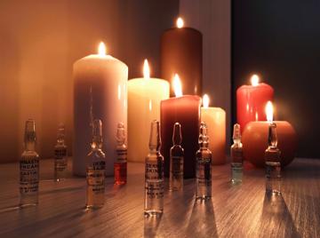 candele e fiale per il trattamento del viso a Mira