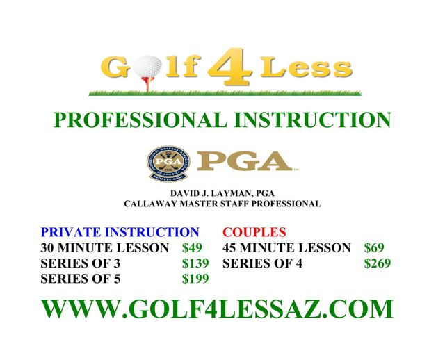 Golf 4 Less >> Professional Golf Lessons Glendale Sun City West Az