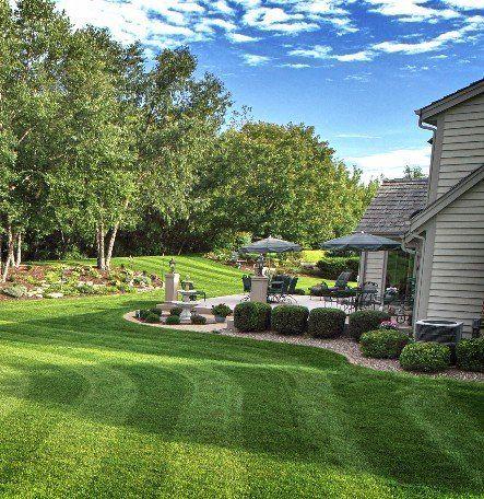 Custom landscape design by Cook Bros Estate Services.