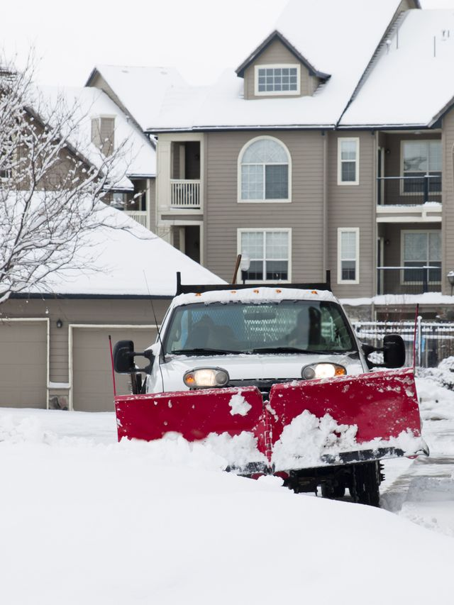 Professional snow removal services from Cook Bros Estate Services
