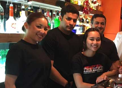 Staff at The Rock Kobe