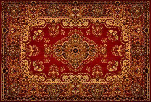 Tappeto di stile orientale, sottolinea il rosso