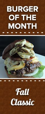 Burger of the month promotion