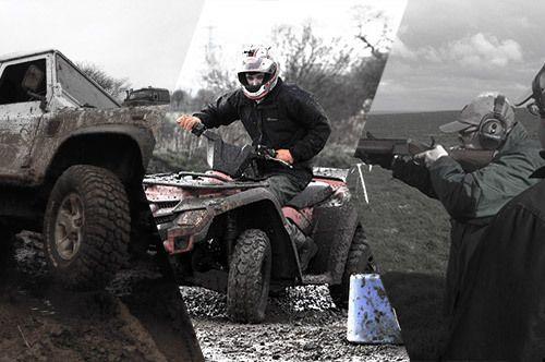 4x4 off-roading, quad biking and clay pigeon shooting
