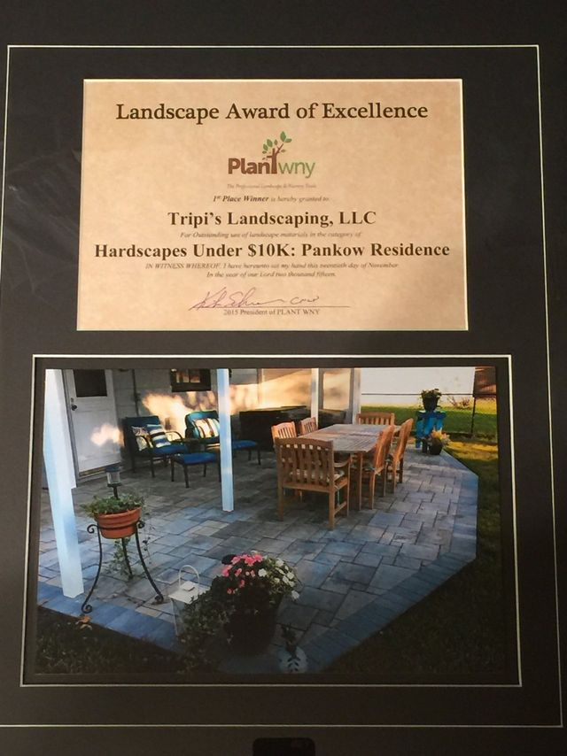 Tripi's Landscaping - Award of Excellence