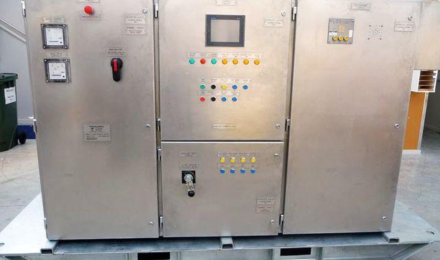 A PLC cabinet
